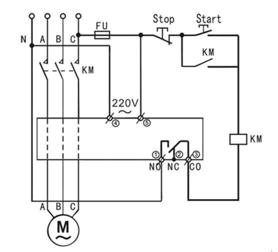 缺相继电器接线图
